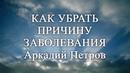 Как убрать причину болезни Аркадий Петров Древо Жизни Наталья Золотарёва Базовый курс