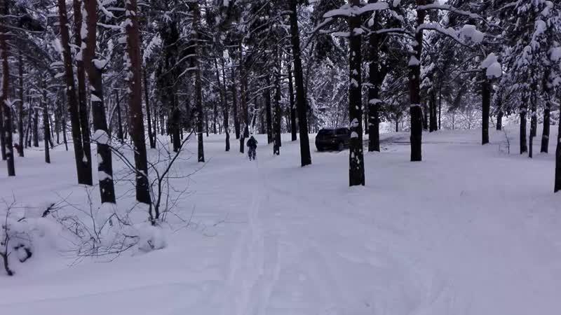 ВСК им А.В. Баландина. Тренировка развед.группы на лыжах.