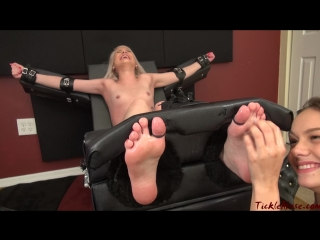 TickleAbuse - Naked Maia ToeTied