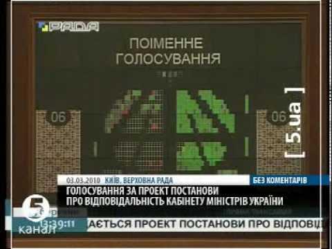 ВР відправила у відставку уряд Тимошенко