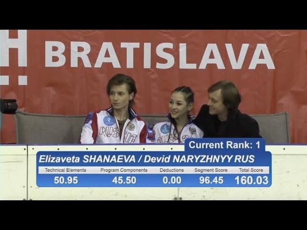 🥇 Елизавета ШАНАЕВА / Дэвид НАРИЖНЫЙ - GP of Bratislava 2018 Junior ID - FD - December 16, 2018