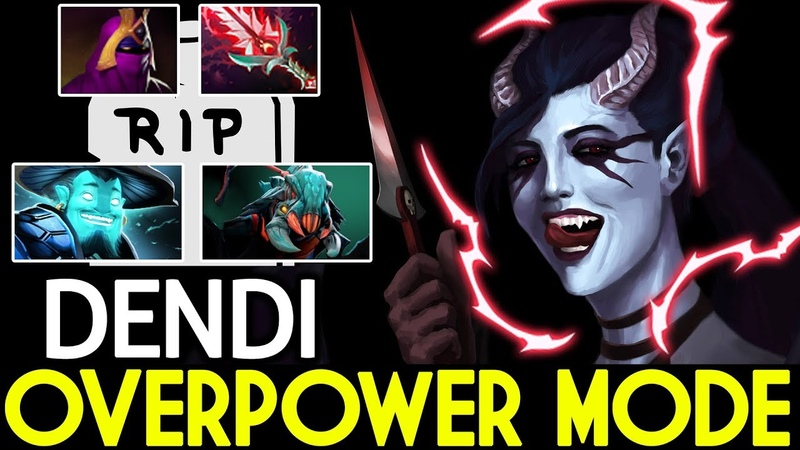 Dendi [Queen of Pain] Overpower Mode Insane Game 25 Kills 7.19 Dota 2