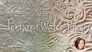 How To Create TEXTURED WAFER PAPER Cake Decorating