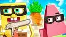 Спанч БОБ и ПАТРИК стали ГРАБИТЕЛЯМИ в МАЙНКРАФТ | Приколы Minecraft
