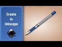 Inkscape Tutorial Draw a office Pen
