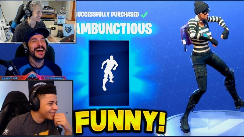STREAMERS REACT TO NEW DANCES *RUMBUNCTIOUS* | Fortnite Funny Fails Best Moments (Battle Royale)