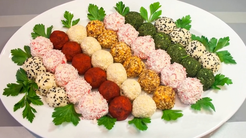 Праздничная закуска «Сырные шарики» - 5 вкусных рецептов
