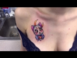 Тату-мастер Катя Маслова (colored newschool tattoo Sailor Moon cat Artemis) | Тату - студия Дом Элит Тату (Tattoo Studio Moscow)