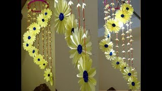 How to make wind chimes out of paper DIY wind chimes Home decoration idea