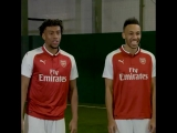 We challenged @Aubameyang7, @D_Ospina1 and @alexiwobi to see who's the fastest by playin