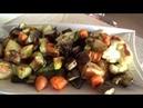 Запеченные овощи в духовке и турецкий десерт tavuk göğsü