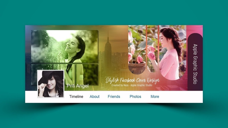 Stylish Facebook Cover Photo Design - Photoshop CC Tutorial