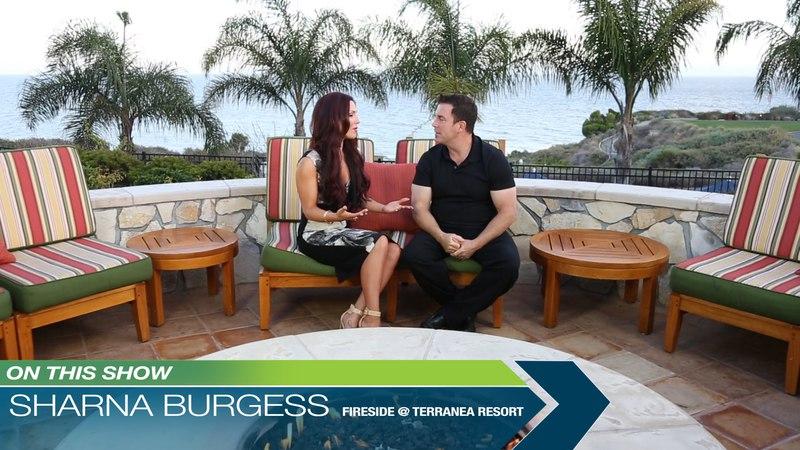 DWTS Sharna Burgess, Fireside at Terranea Resort