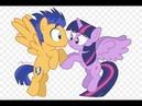 Поцелуй Твайлайт Спаркл и Флэш Сентри Мой маленький пони игра