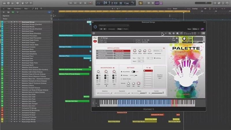 Red Room Audio Palette Runs And Arps V1 IN ACTION