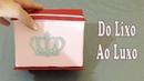 Do Lixo ao Luxo : Como Fazer Porta Batom de Caixa de Papelão - Artesanato DIY