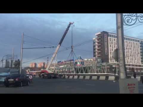 Монтаж пешеходного перехода на Партизана Железняка г.Красноярск ГК ССТ
