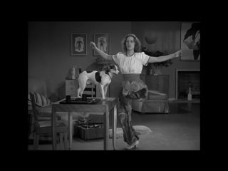 Eleanor Powell dancing with dog from