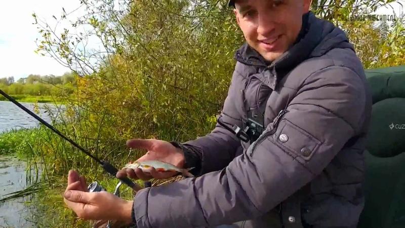 Ловля Осенней Плотвы Пикером Волжанка, на Дикой речке.