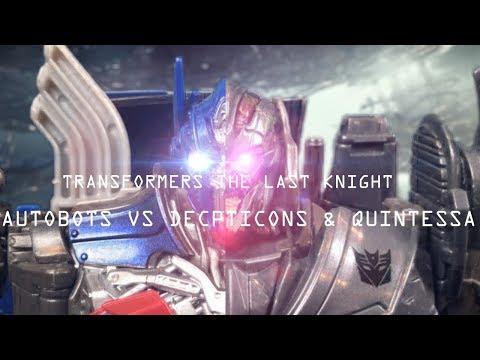  TRANSFORMERS: THE LAST KNIGHT STOP MOTION   AUTOBOTS VS DECEPTICONS QUINTESSA 2.0 