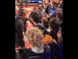 Robert Pattinson greeting fans at TIFF