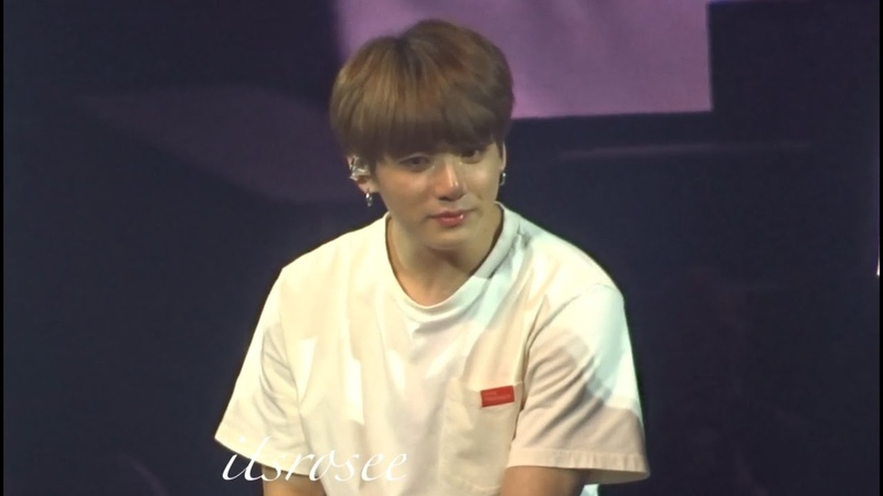 181009 Ending speech ment (Jungkook crying) BTS Love yourself tour In London FANCAM