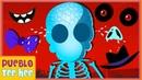 Partes de la Cara de un Esqueleto Bebé y Más Canciones de Miedo | Pueblo Teehee