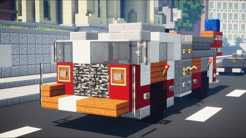 Minecraft NYC FDNY Fire Engine Pumper Tutorial