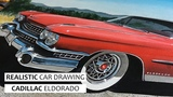 Realistic Car Drawing Cadillac Eldorado
