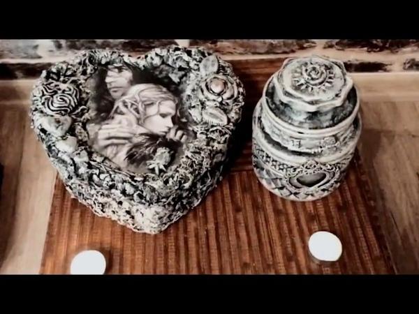 SEVGİLİLER GÜNÜ HEDİYE KUTUSU DEKUPAJ SÜSLEME /DECOUPAGE GIFT BOX for VALENTINE'S DAY / DIY