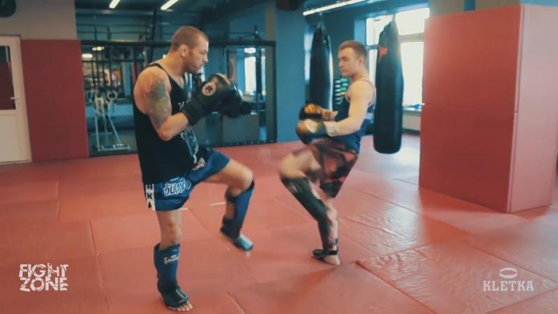 Защита от мидл-кика — техника ударов ногами в Тайском боксе с Андреем Басыниным