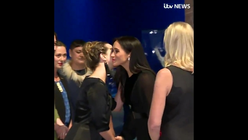 The Duchess of Sussex receives a traditional Maori greeting, as she attends the opening of Oceania at the Royal Academy of Arts