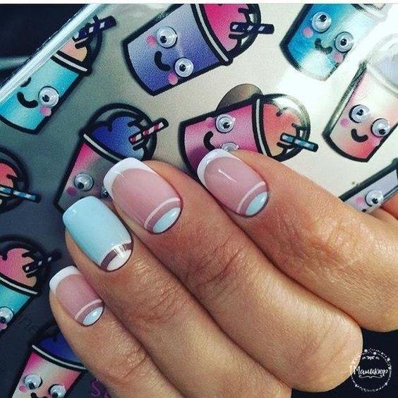 Френч с рисунком 2019: фото, дизайн на ногтях, новинки, много идей