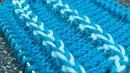 Двухцветная отделочная косичка Отделка вязаных изделий спицами