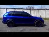 BMW X5 E70 ▪️ Полная оклейка в Dark Blue Chrome