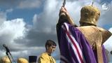 Молебен на месте стоянки Александр Невского