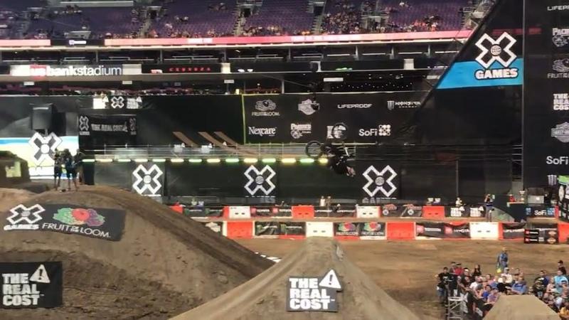 "DIG BMX on Instagram: ""Dirt was pretty mental.. here's @brianfoxbmx who took third behind @loganmartinbmx and @brandonlouposyo in first. xgames"""