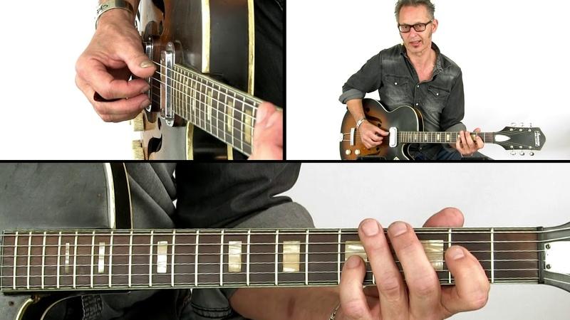 Down Home Boogie Blues Guitar Lesson - Quarter Triplets - Richard van Bergen