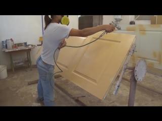 Как покрасить двери; how to paint the door