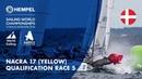 Full Nacra 17 Yellow Fleet Qualification Race 5 | Aarhus 2018