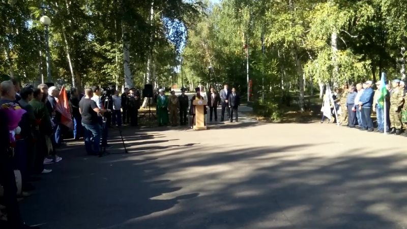 Выступление отца Владимира на церемонии открытия монумента
