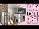 DIY dollhouse ( miniature loft apartment)