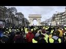 Очередной протест Желтых жилетов в Париже Yellow jackets protest in Paris LIVE 16 02 19