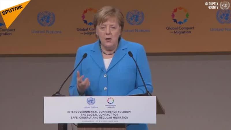 """""""Ein gutes Zeichen""""- Merkel zu UN-Migrationspakt"""