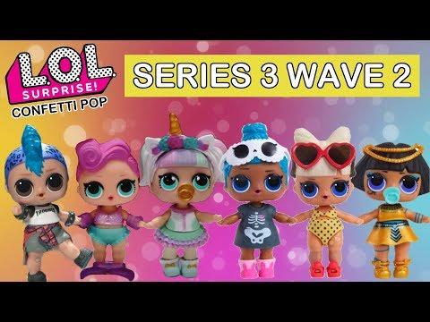 LOL Surprise Confetti Pop Wave 2 Real Dolls First Look | L.O.L. Unicorn, Pharaoh Babe, Punk Boi