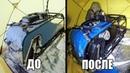 Размораживаем утонувший мотобукс Заведется? Пуск двигателя на льду.