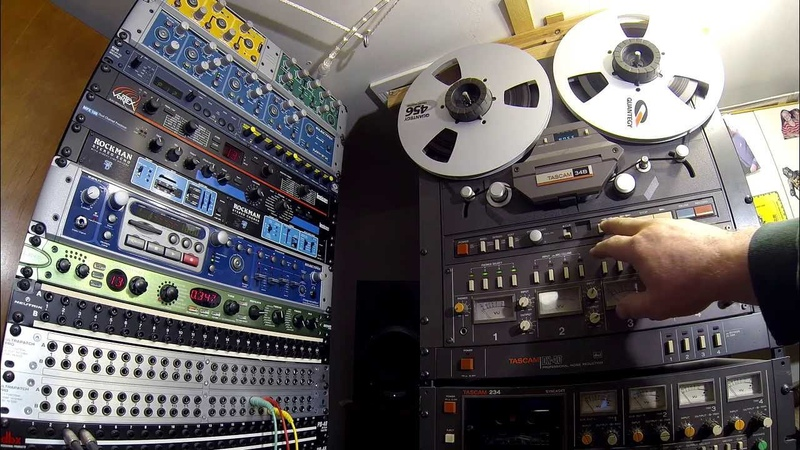 Tascam 34b Reel to Reel w/ EH Germanium 4 Big Muff Featuring GoPro Hero3 at 2.7k Resolution
