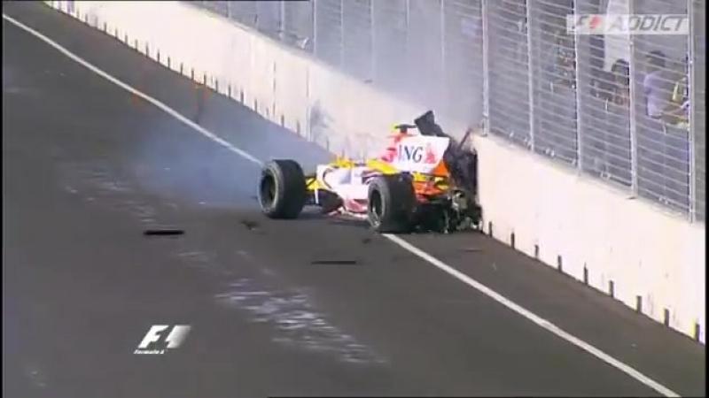 Чемпионство Алонсо 2008 Singapore Alonso champion