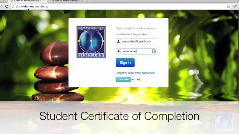 Step by Step Video for School of Remembering Certificates of Completion