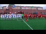 Звезды футбола сыграли в благотворительном матче на Красной площади